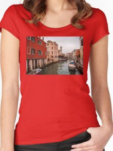 A Gray Day in Venice Women's Fitted Scoop T-Shirt
