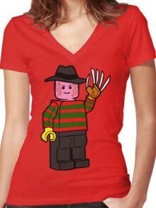 Horror Toys - Freddy Women's Fitted V-Neck T-Shirt