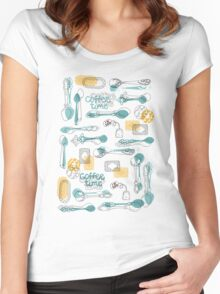One lump or two? Women's Fitted Scoop T-Shirt