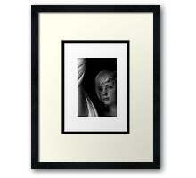 black and white portrait Framed Print