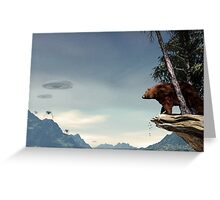Do Aliens Get Grizzly? Greeting Card