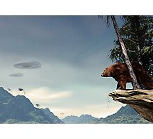 Do Aliens Get Grizzly? Photographic Print