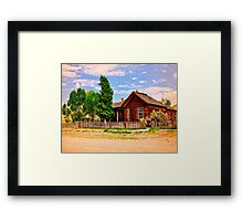 Part Of A Ghost Town History Framed Print