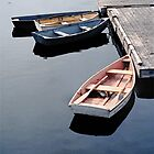 Dories at the Dock - Rockport Harbor by Peter Sucy