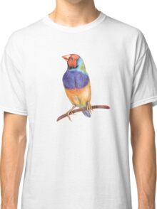 Bright gouldian finch bird Classic T-Shirt