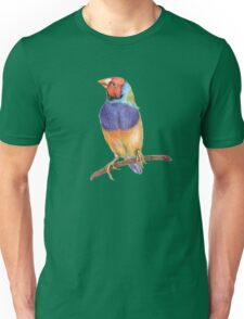 Bright gouldian finch bird Unisex T-Shirt