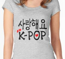 SARANG HAEYO K-POP Women's Fitted Scoop T-Shirt