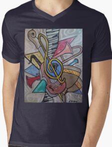 Musical Vibes Mens V-Neck T-Shirt
