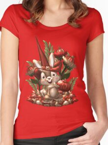 Halloween Rabbit  Women's Fitted Scoop T-Shirt