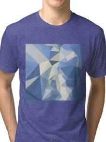 Columbia Blue Abstract Low Polygon Background Tri-blend T-Shirt