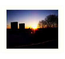 Tower Block Silhouette Art Print