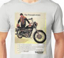The Triumph Owner - he's an expert - advert. Unisex T-Shirt