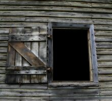 Window of 19th Century Wool and Apple Packing Shed by Marilyn Harris