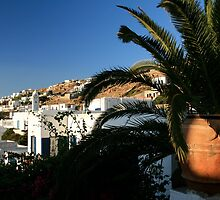 Pottery and architecture in Mykonos, Greece by sccaldwell