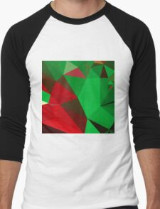 Dark Pastel Green Abstract Low Polygon Background T-Shirt