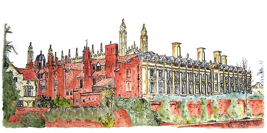 Clare College Backs, Cambridge by Ian Bracey