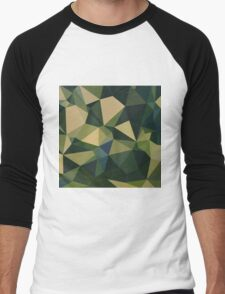 English Green Abstract Low Polygon Background T-Shirt