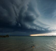 Wild Weather - Wellington Point Qld by Beth  Wode