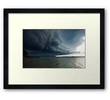 Wild Weather - Wellington Point Qld Framed Print
