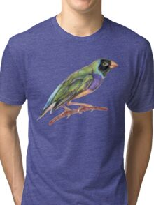 Hand drawn gouldian finch bird Tri-blend T-Shirt