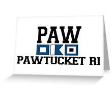 Pawtucket - Rhode Island. Greeting Card