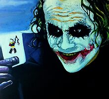 Heath Ledger as The Joker by Okse