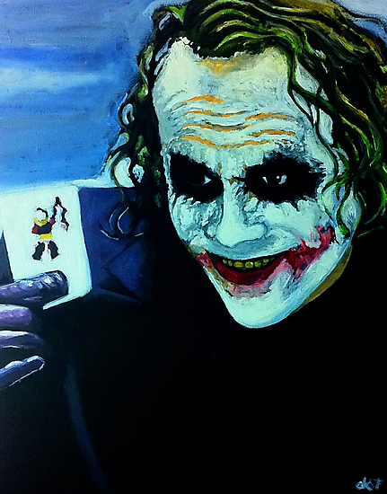 Heath Ledger as The Joker by Okse