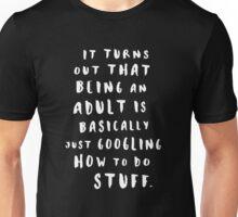 Being An Adult | Black Unisex T-Shirt