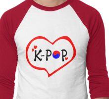 LOVE K-POP MUSIC Men's Baseball ¾ T-Shirt