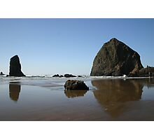 Haystack Rock at Cannon Beach, Oregon Photographic Print