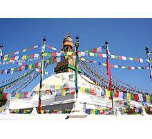 Kathmandu Buddhist temple Photographic Print