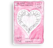 Manifesto »I AM LOVE« Canvas Print