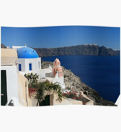 View from Oia - Santorini, Greece Poster