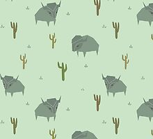 Bison Pattern Pistachio by n1mh