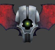 Winged Mech Skull by wightjester