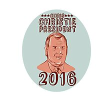Chris Christie President 2016 Oval Photographic Print