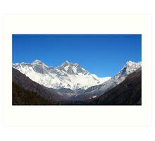 Mt Everest  view Art Print