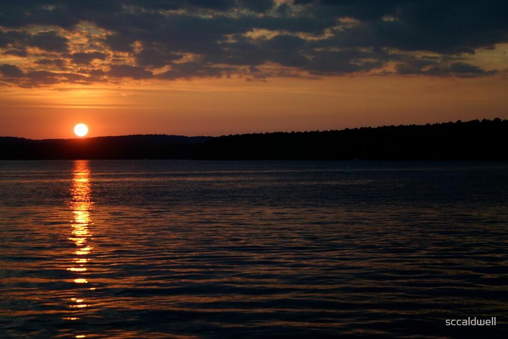 Sunset over Lake Jordan, North Carolina by sccaldwell