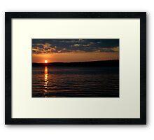 Sunset over Lake Jordan, North Carolina Framed Print