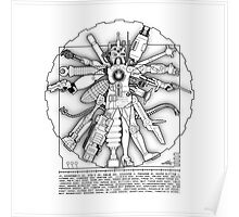 Vitruvian Machine - Print Poster