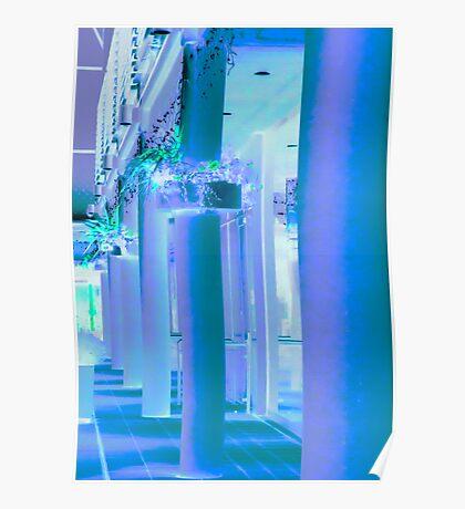 Pillars at Night Poster