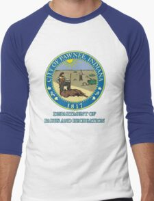Pawnee Indiana Parks and Recreation Men's Baseball ¾ T-Shirt