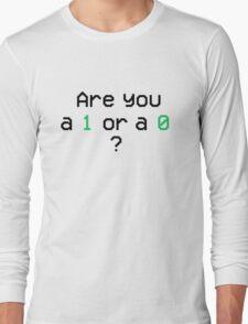 Mr. Robot - 1 or 0 Long Sleeve T-Shirt