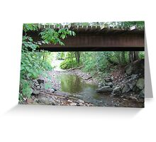 Brook Bubbling Beneath The Footpath Greeting Card