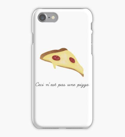 Ceci n'est pas une pizza. iPhone Case/Skin