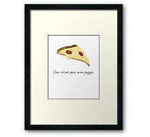 Ceci n'est pas une pizza. Framed Print