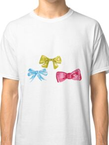 watercolor bow Classic T-Shirt