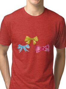 watercolor bow Tri-blend T-Shirt