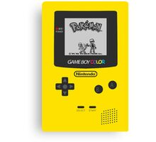 Game Boy Color with Pokemon by Shoro Canvas Print