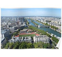 View from Eiffel Tower, Paris  Poster